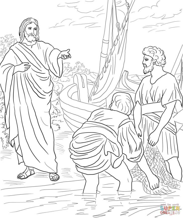 First Disciples Of Jesus Coloring