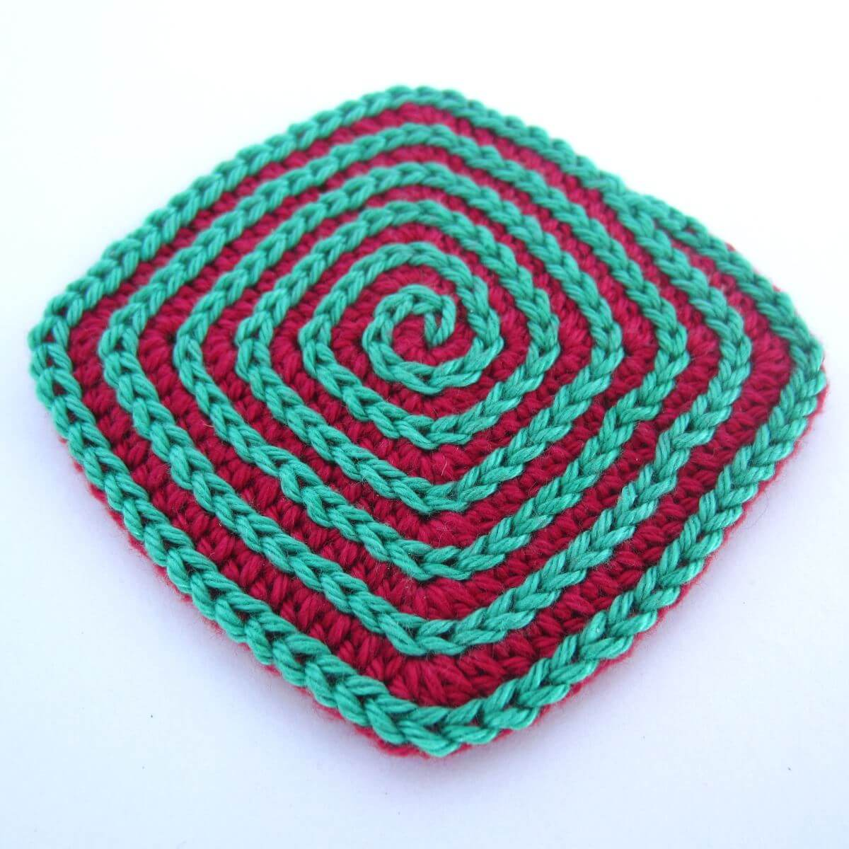Square Crochet Coaster Featured Image