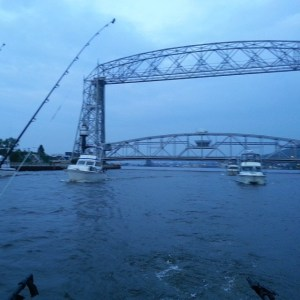 Charter Boats Leaving the Duluth Entry