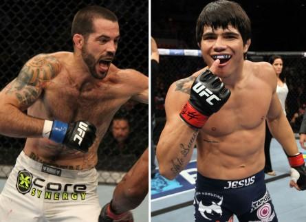 Brown (esq.) e Erick (dir.) fazem a luta principal do UFC em Cincinnati. Foto: Produção MMA Press (Divulgação/UFC)