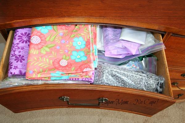 My fabric dresser - drawer #1
