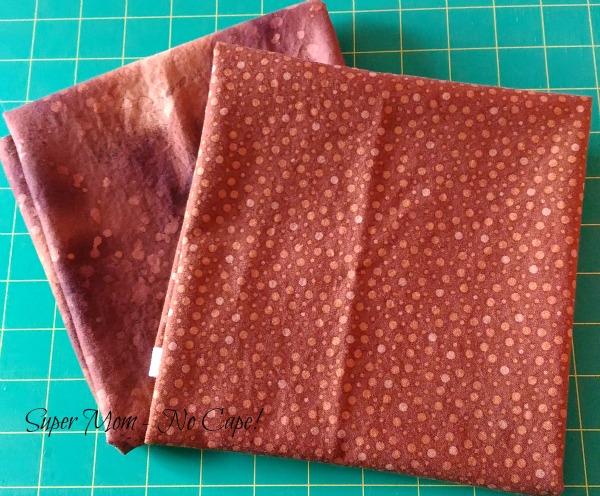 Brown fabric for reindeer blocks