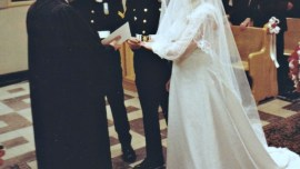 Dave and I Exchanging rings Feb 11 1983