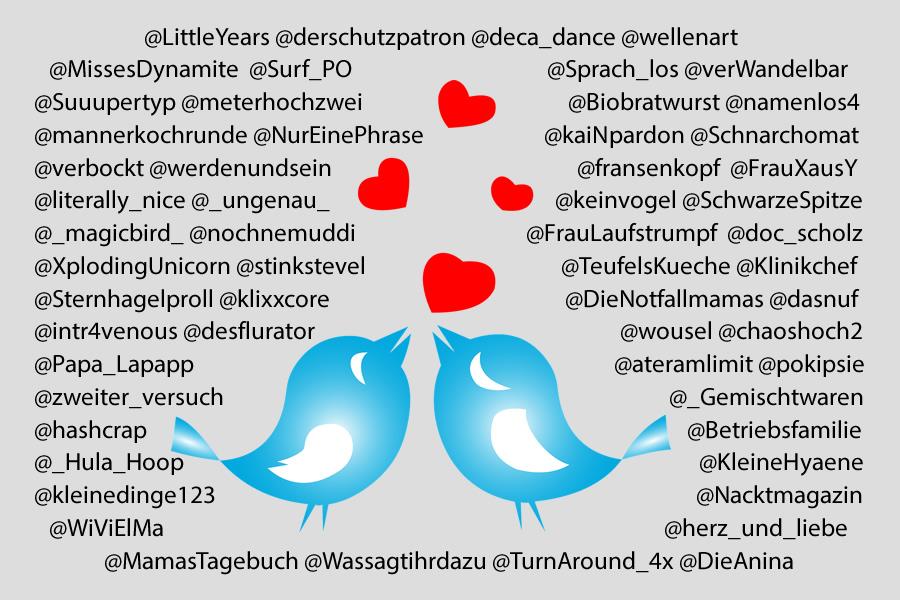 Eine literarische Love-Story mit 57 Twitterern
