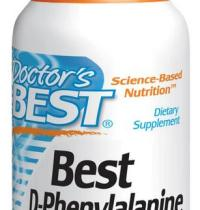 Best D-fenylalanine 500 mg (60 Veggie Caps) - Doctor's Best