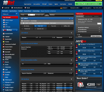 Hannover @ 10Bet Bookmaker