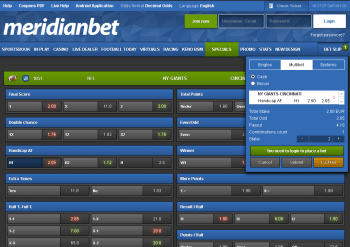 NY Giants @ Meridianbet Bookmaker