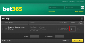 Heerenveen Women @ Bet365 Bookmaker