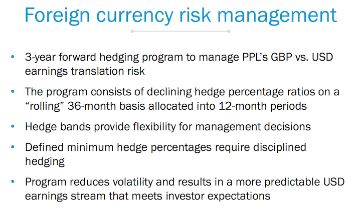 PPL Foreign Currency Risk Management