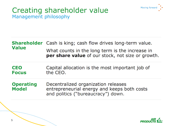APD Creating Shareholder Value