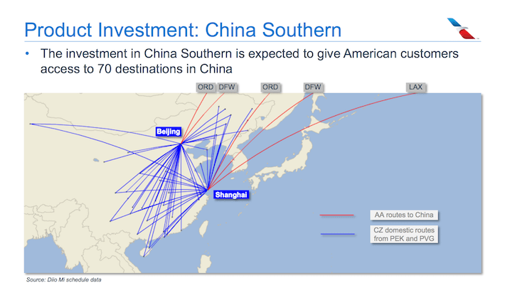 AAL American Airlines Product Investment China Southern