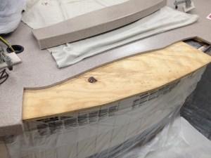 Before - Ereckson Middle School: Completely Broken Countertop in Cafeteria