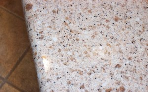 After: Quartz Blotch was Completely Repaired to Blend with the Countertop!