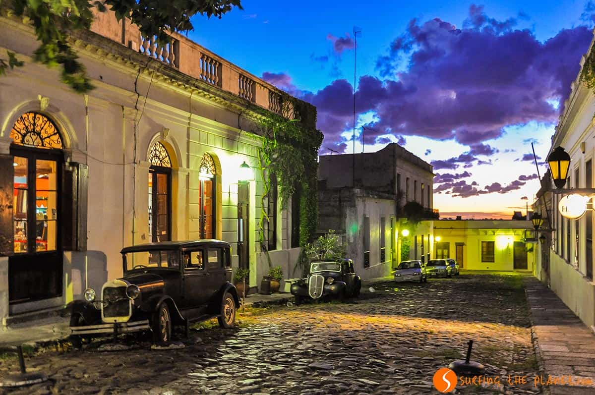 What to see in Uruguay in 10 days   Travel to Uruguay Night lights  Colonia del Sacramento  Uruguay
