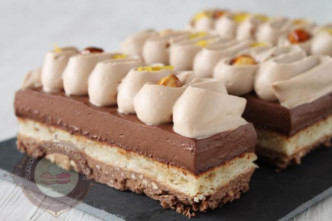 Entremets chocola th 233 bergamote et gianduja surprises et