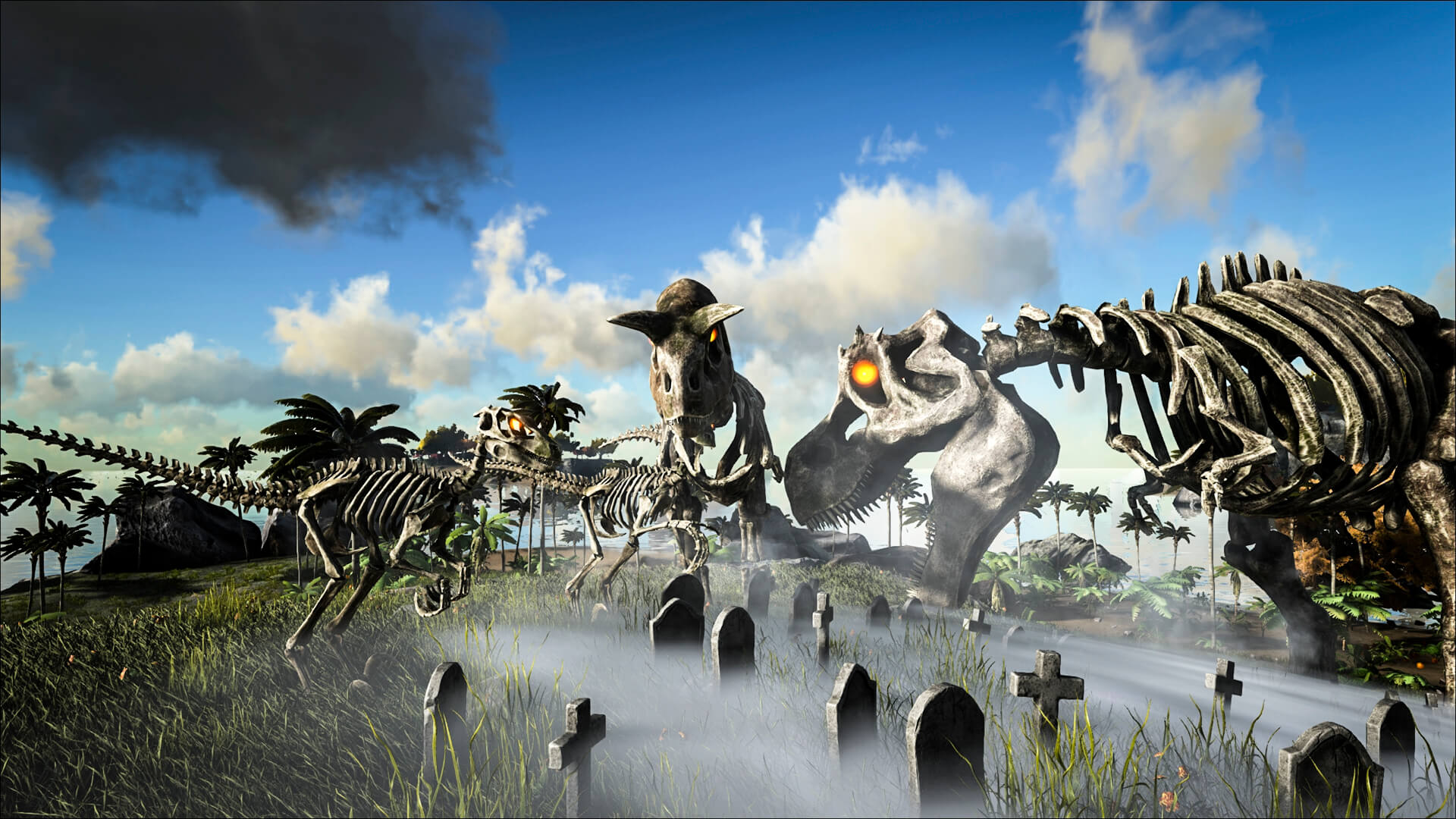 Ark fear evolved is live survive ark skeleton skins malvernweather Gallery