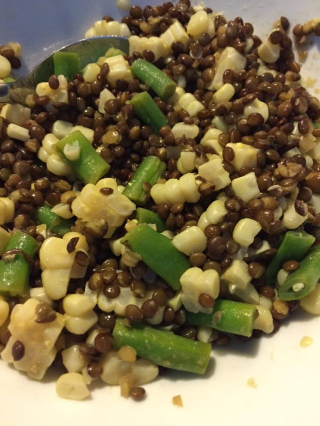 lentil bean corn salad