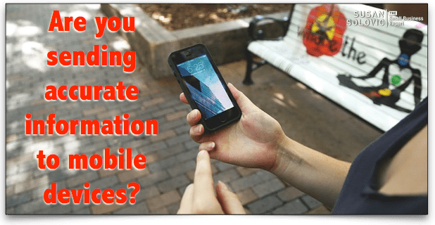 mobile local listing information