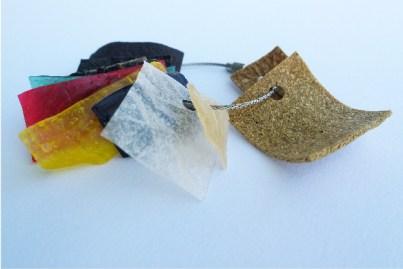 samples of starch based bioplastics samples