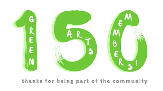 Green Arts Initiative reaches 150 Members!