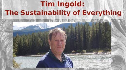 Tim Ingold: 'The Sustainability of Everything'