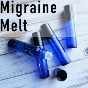 This migraine melt blend contains a number of essential oils to help promote feelings of relief when applied at the first signs of a migraine.