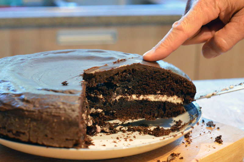 The best ever lactose-free chocolate cake