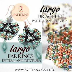 Largo Bead Pattern Combo - Bracelet and Earrings Tutorial Set