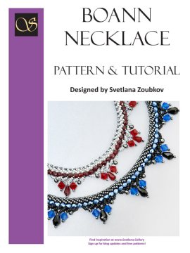 Boann Necklace Pattern Tutorial - Cover - Svetlana.Gallery
