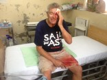 Uncle Mac waiting for 11 stitches