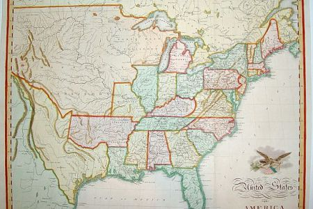 old maps of united states
