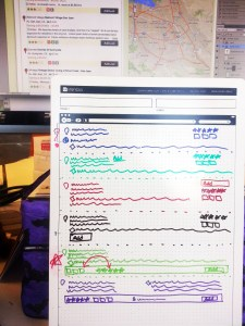 Picture of my monitor and a whiteboard
