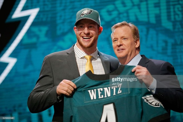 during the first round of the 2016 NFL Draft at the Auditorium Theatre of Roosevelt University on April 28, 2016 in Chicago, Illinois.