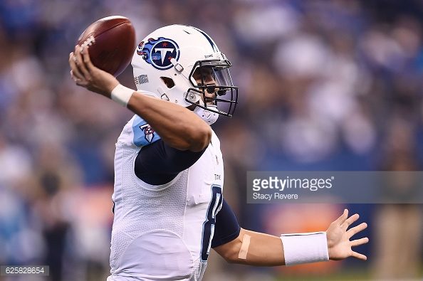 at Lucas Oil Stadium on November 20, 2016 in Indianapolis, Indiana.  The Colts defeated the Titans 24-17.