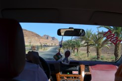 Driving To The Town Of Wadi Rum