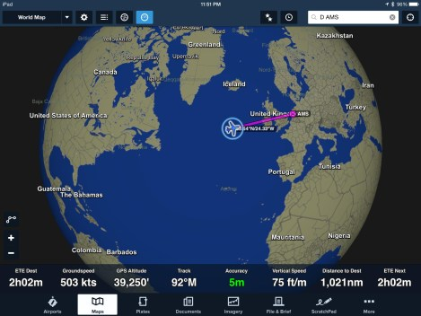 klm a333 map