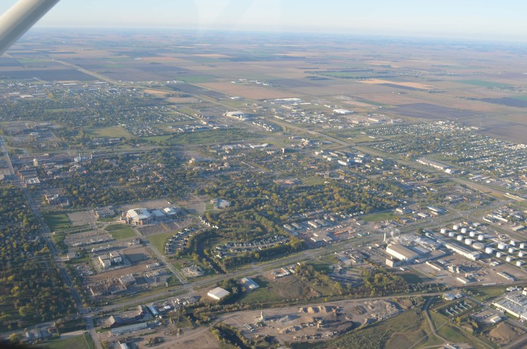 Flying Over UND and Grand Forks