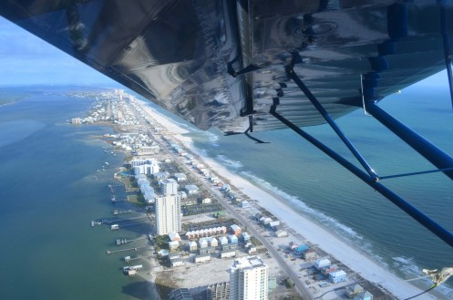 Flying Over Gulf Shores