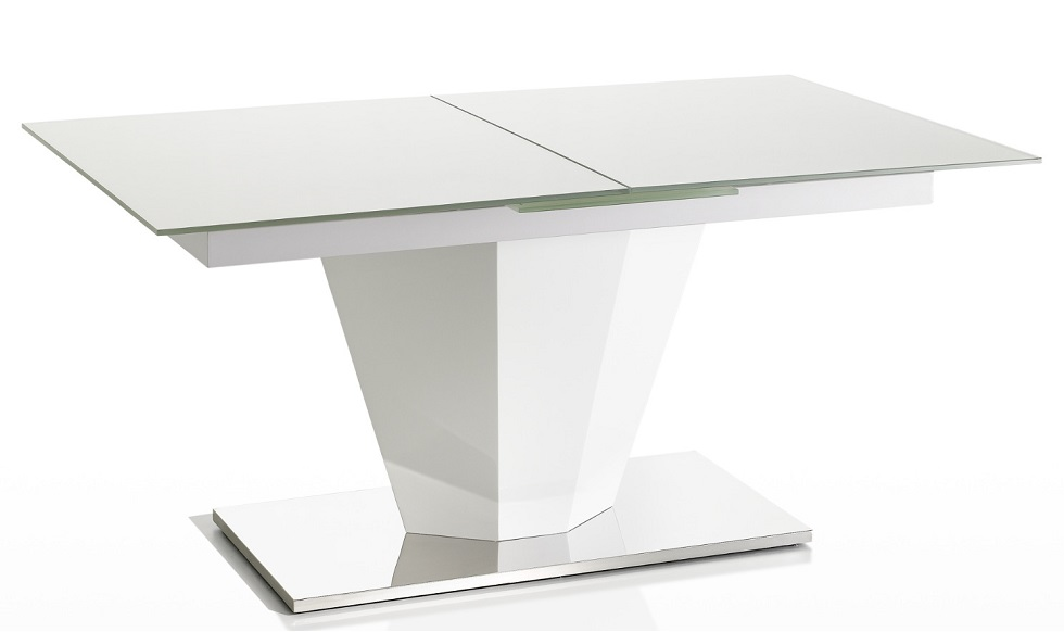 White Glass Top Dining Table Alton Extending Modern  : Dining Table White Glass from www.honansantiques.com size 980 x 582 jpeg 33kB