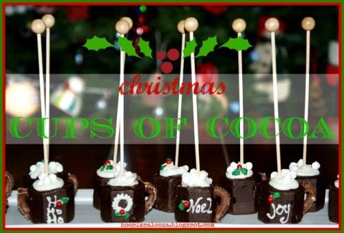 Mini Christmas Cups of Cocoa by Hoopla Palooza