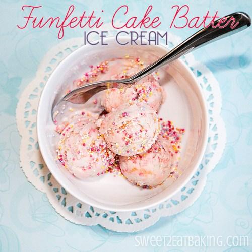 Funfetti Cake Batter Ice Cream