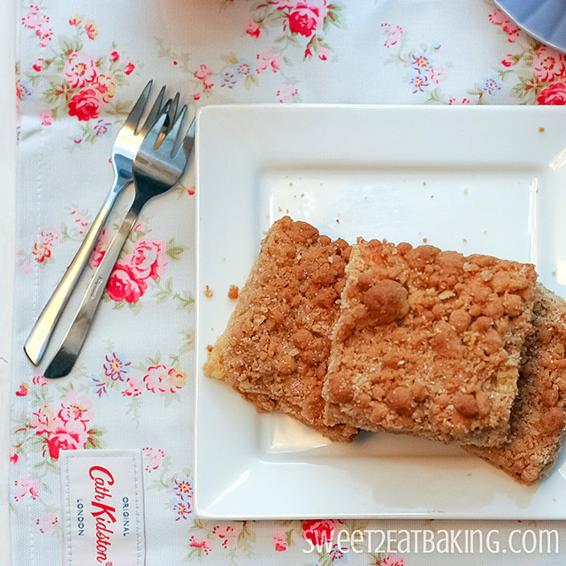 Amazing New York Crumb Cake Recipe by Sweet2EatBaking