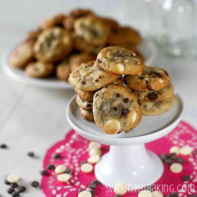 Strawberry, Roasted Hazelnut, Dark & White Chocolate Chip Cookies