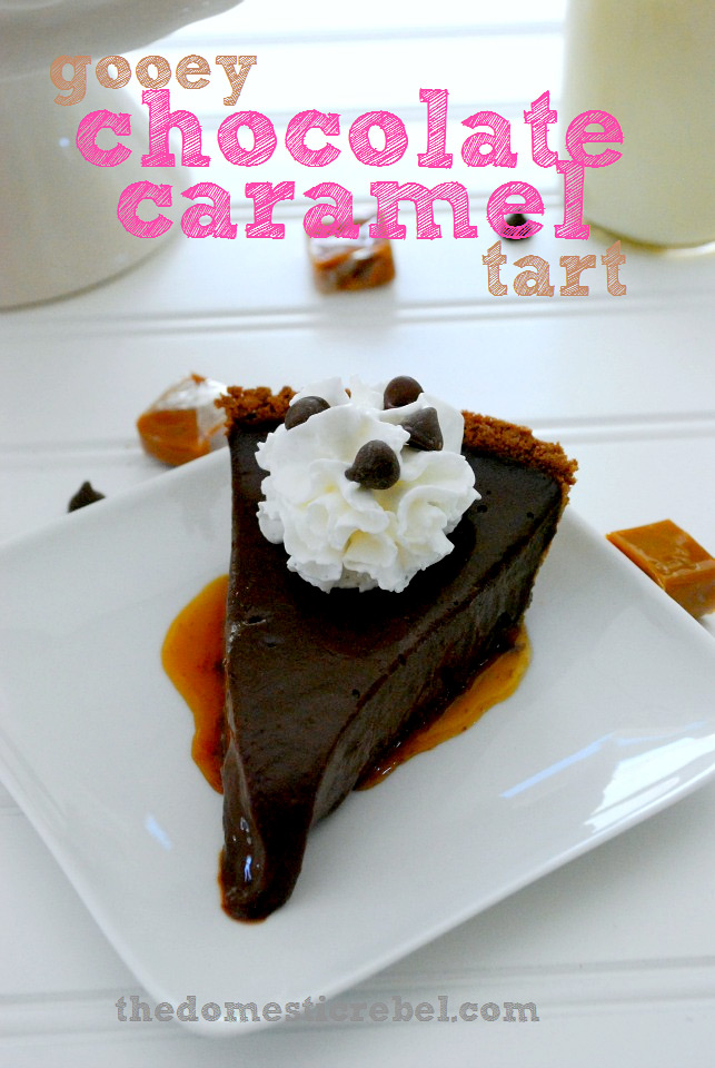 Gooey Chocolate Caramel Tart Recipe