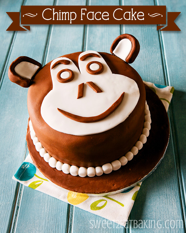 Monkey Chimp Face Chocolate Cake