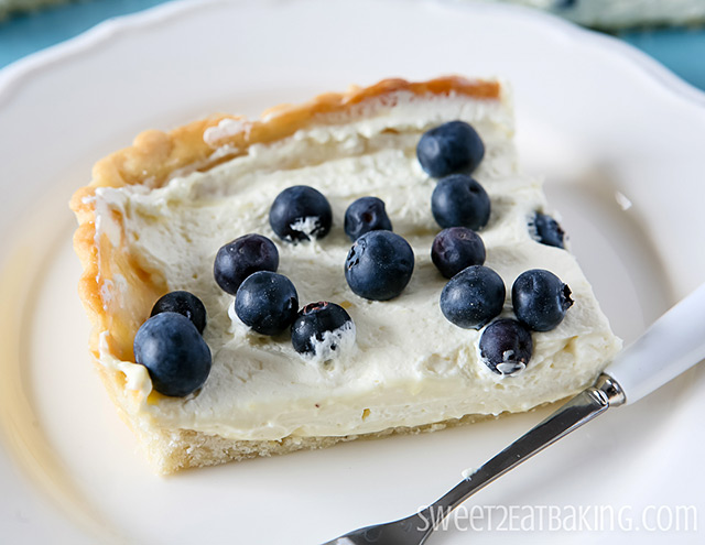 Blueberry and Lemon Curd Cream Tart