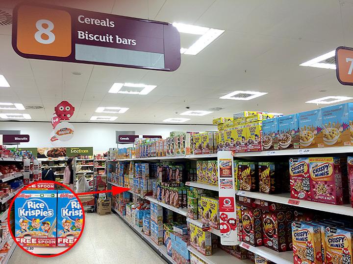 Kellogg's Cereals at Sainsbury's