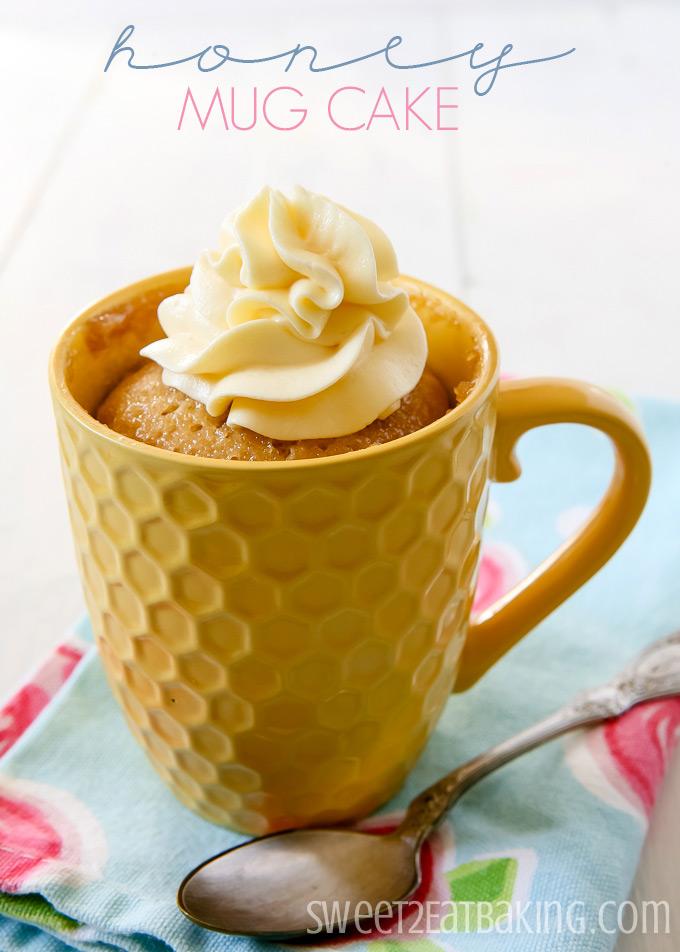 Honey Mug Cake by Sweet2EatBaking.com