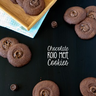 Chocolate Rolo Melt Cookies