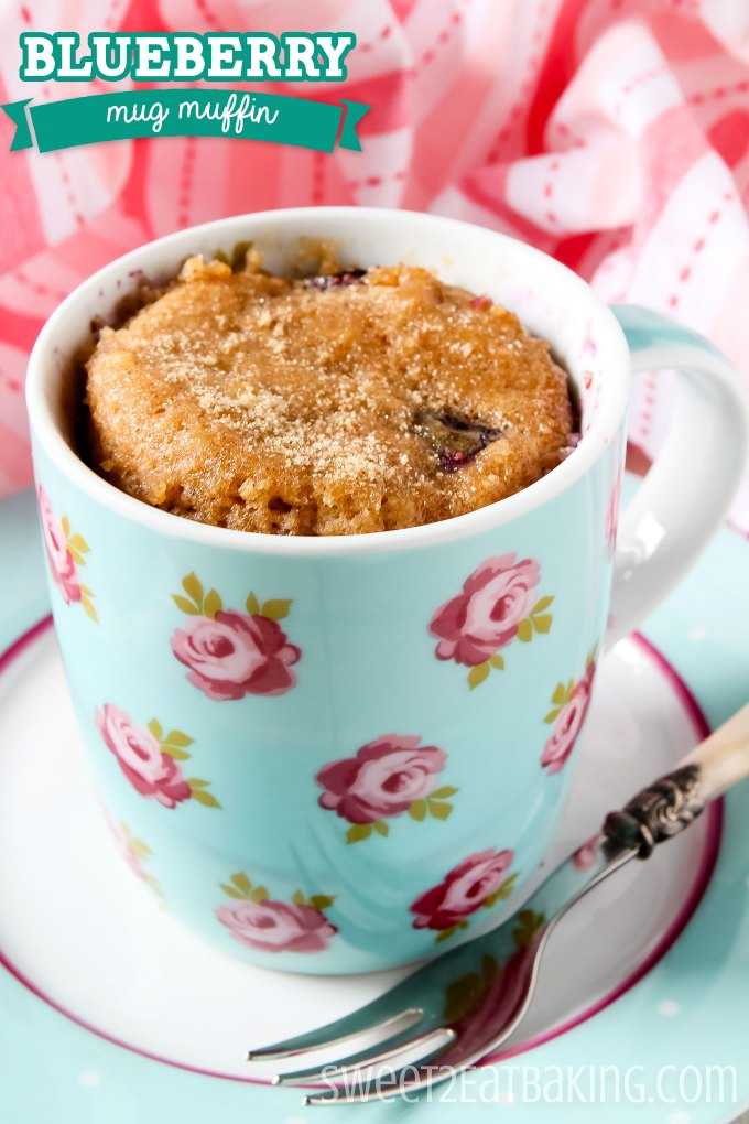 Blueberry Mug Muffin Recipe by Sweet2EatBaking.com